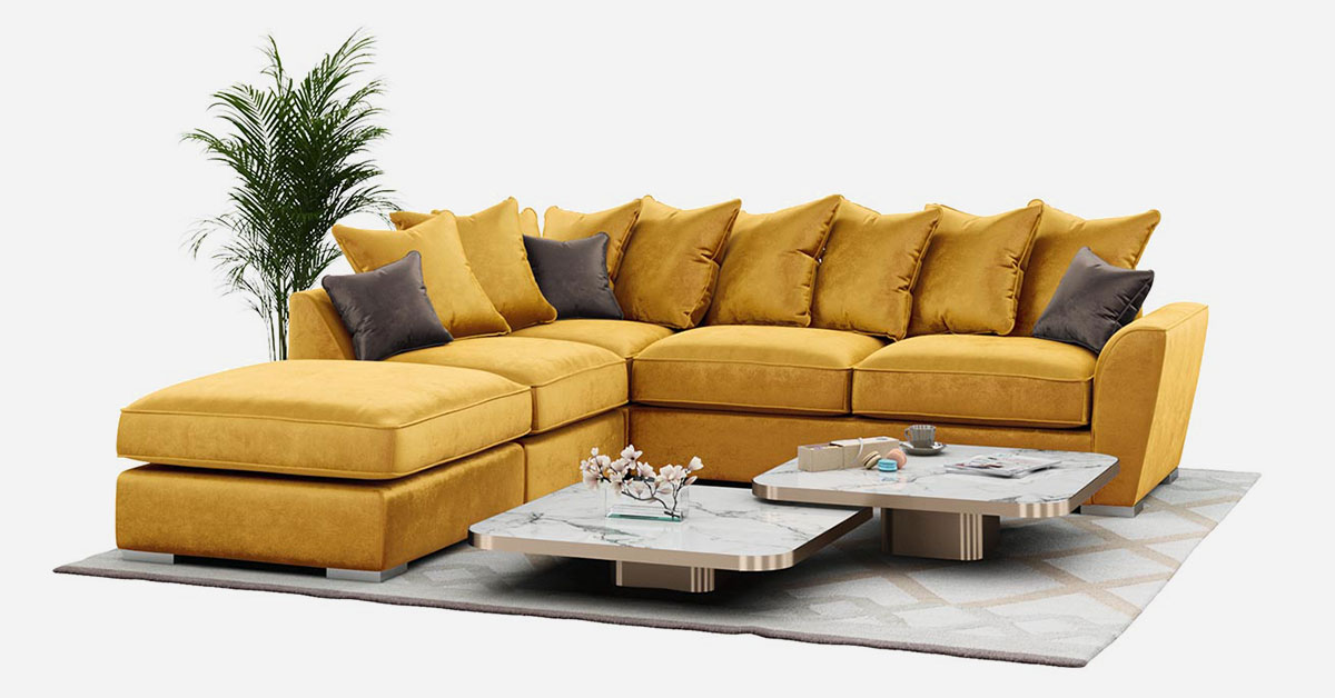 Corner sofas in bright colours – our recommendations