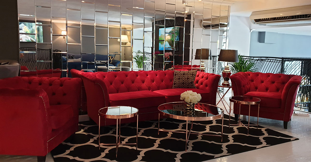 reception room sofa