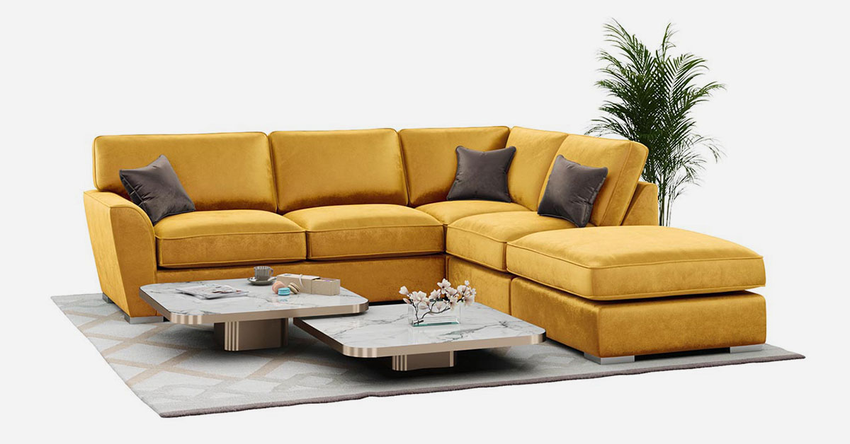 Yellow and mustard corner sofas for your living room
