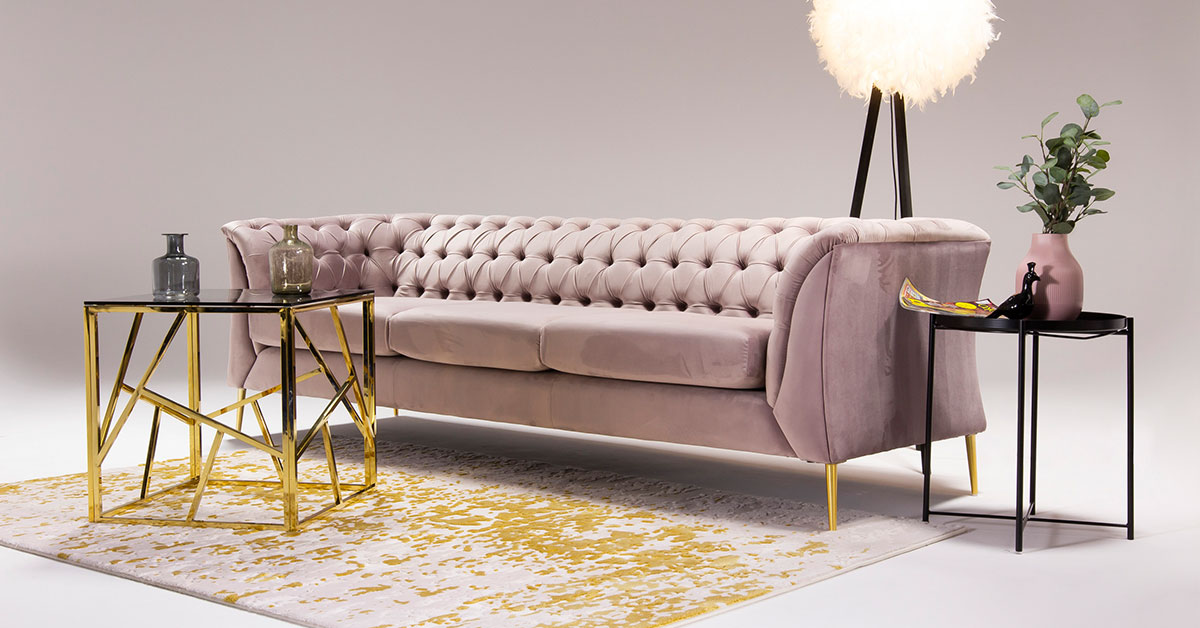 Pink Chesterfield Sofa