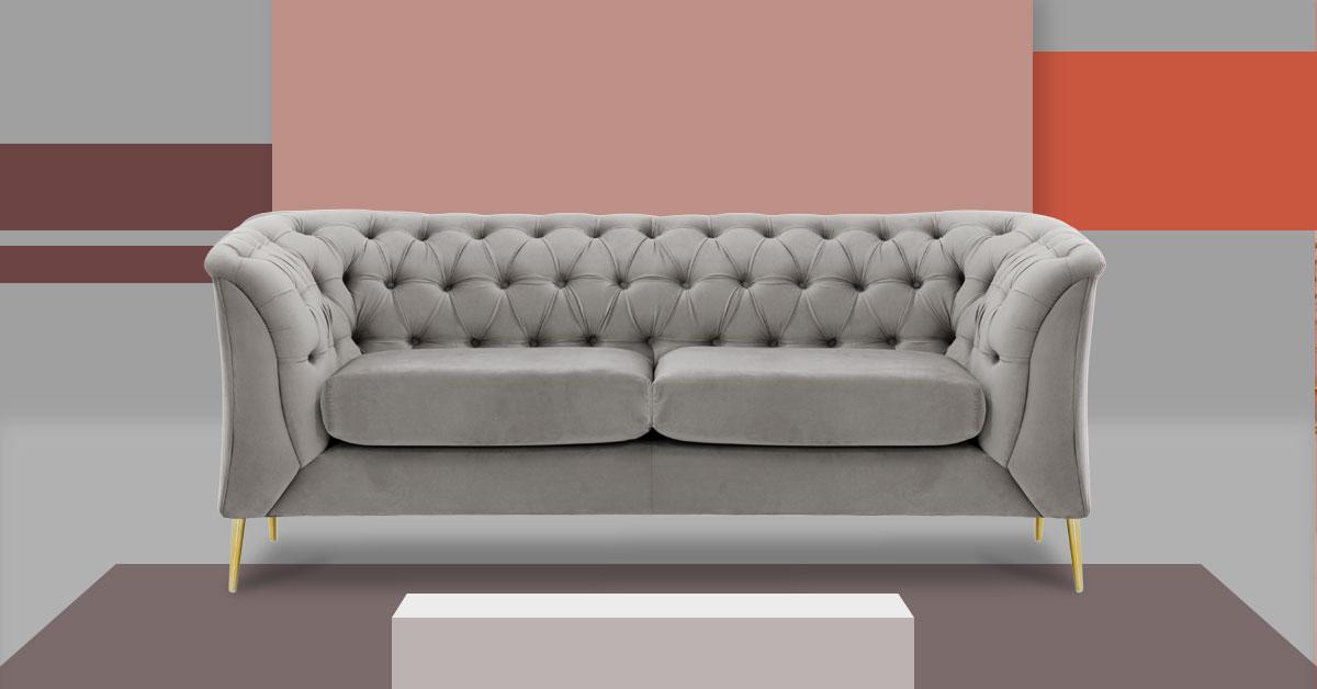 Sofas on metal legs