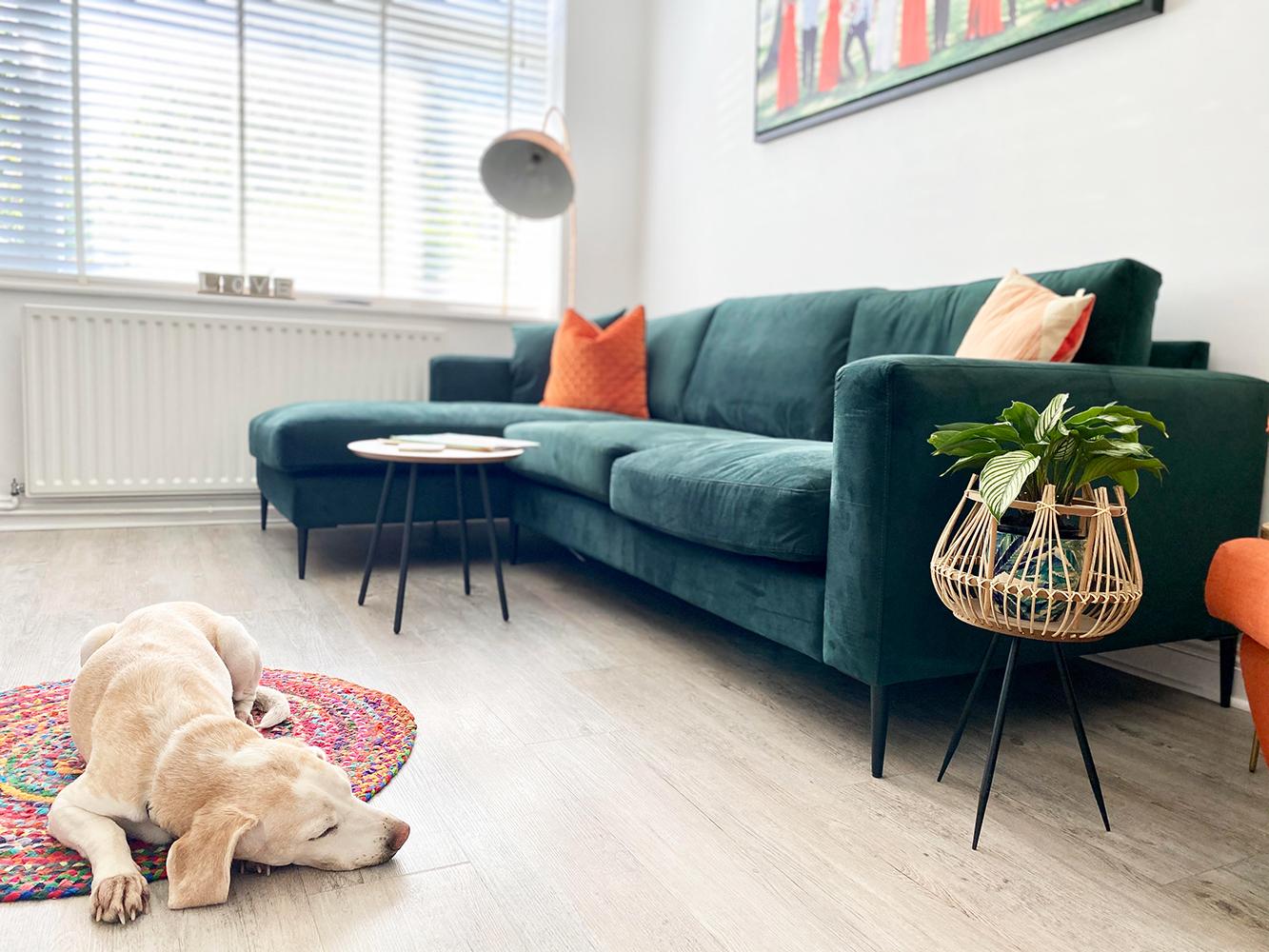 Covex Corner Sofa in a colorful interior