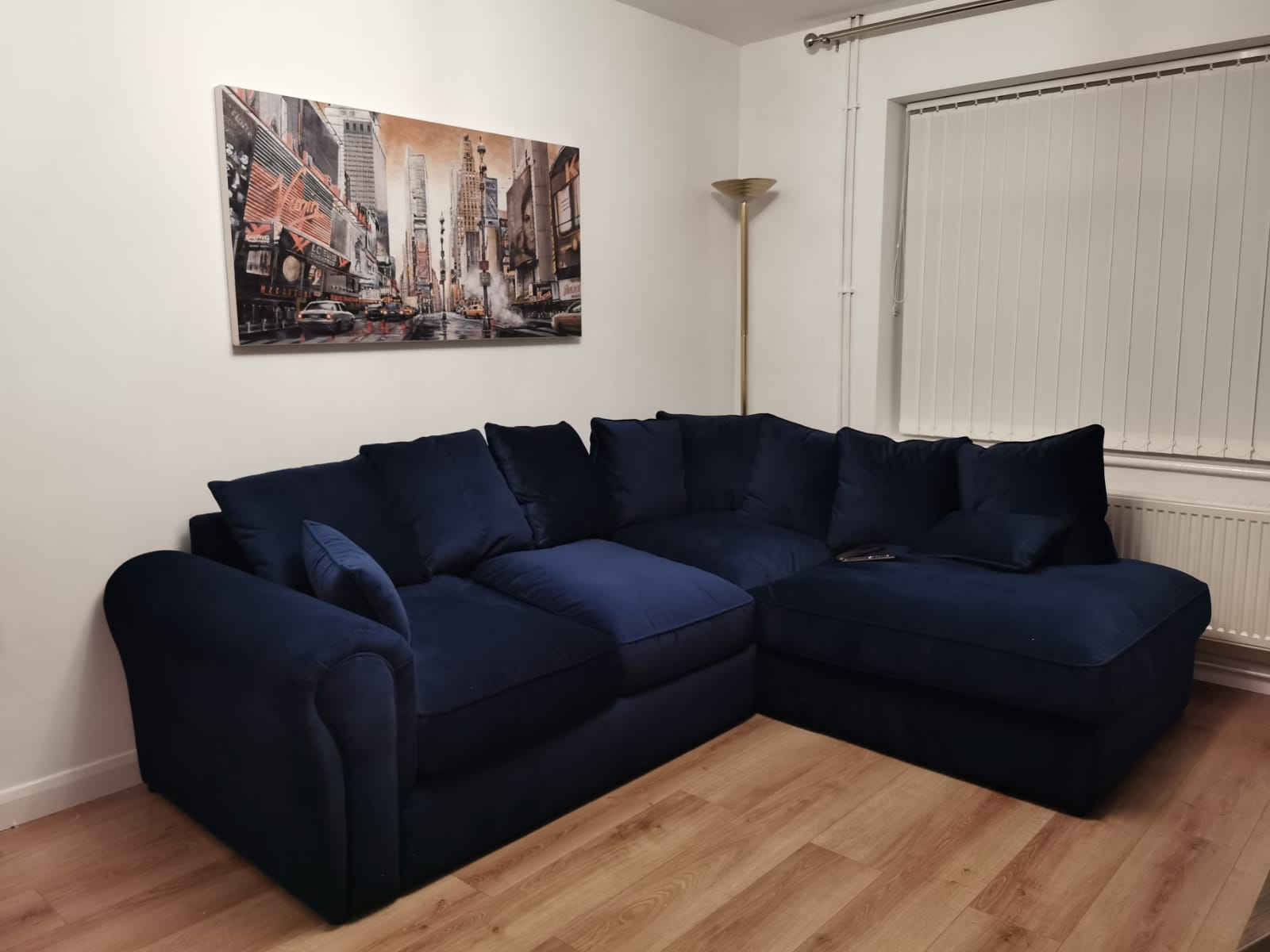 Dark blue Baron corner sofa