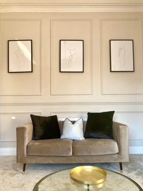Grey small Slender sofa at Francesca's