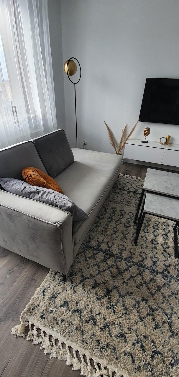 Grey chaise sofa from Kinga