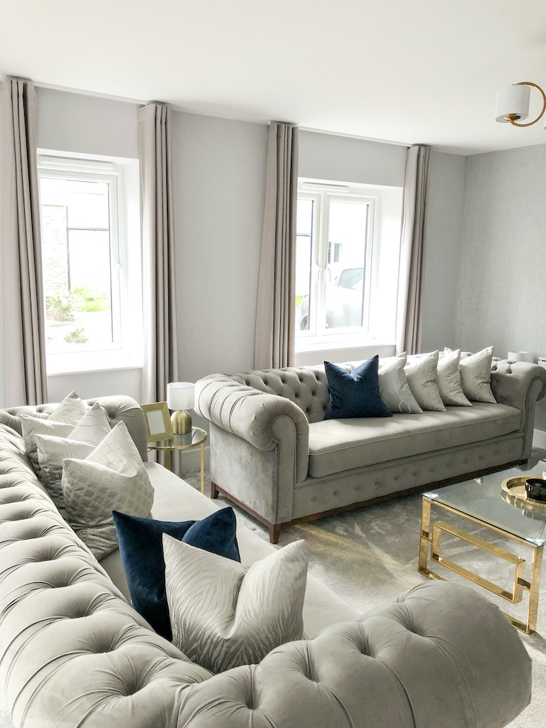 Grey Chesterfield Grand sofa from @Kentriverside