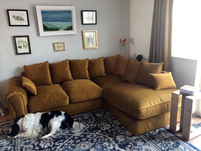 Yellow Baron corner sofa