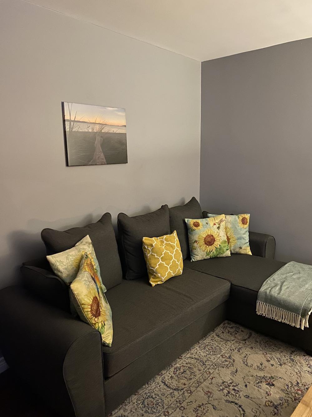 Dark grey corner with sleeping function Nicea