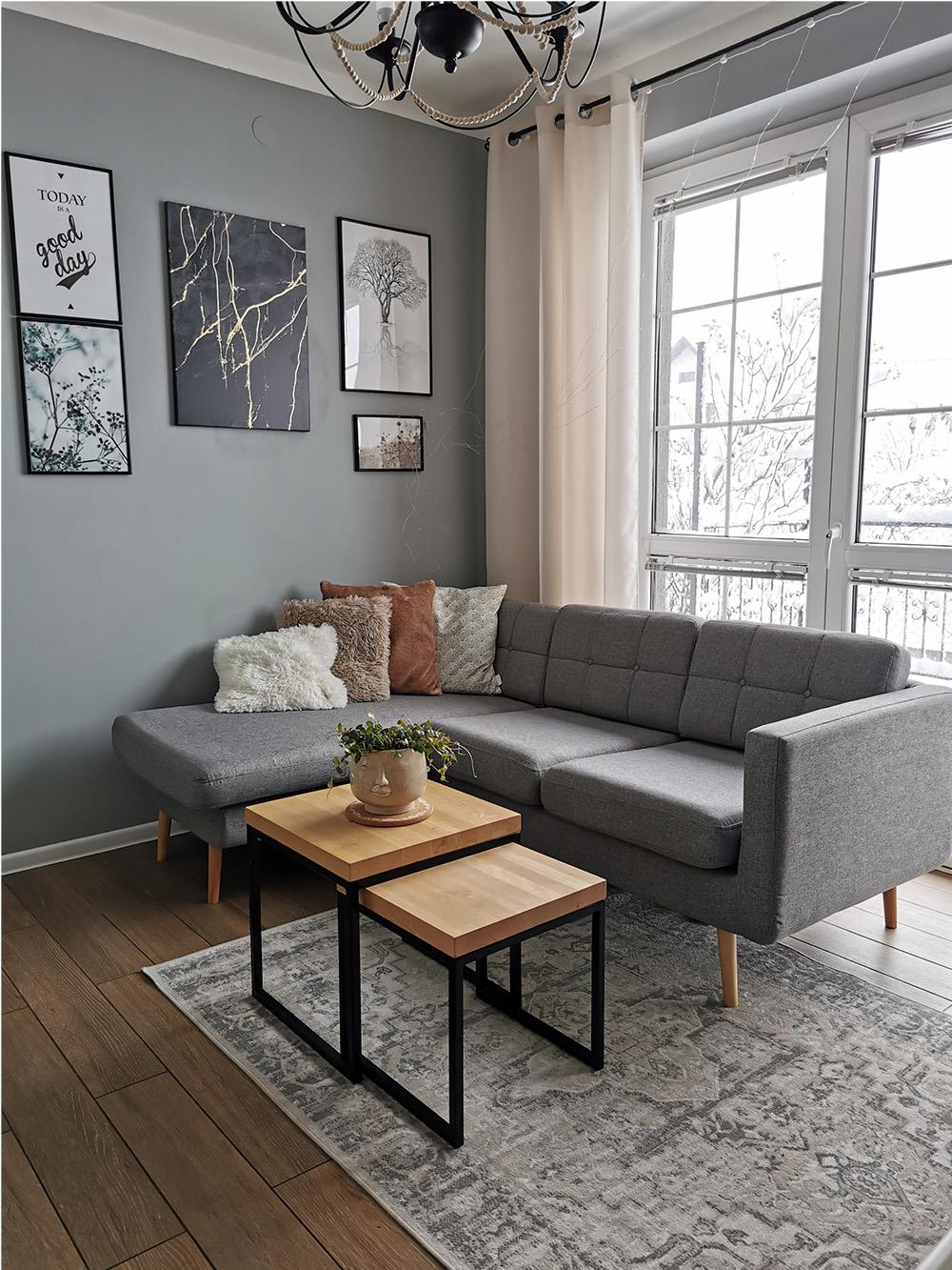 Grey corner sofa Brest from @kstylowa