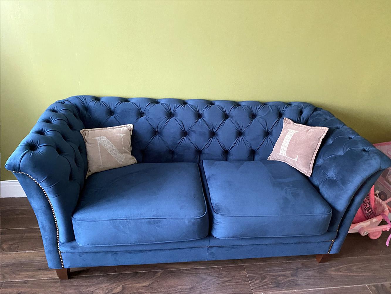 Blue Karin Sofa from Fiona