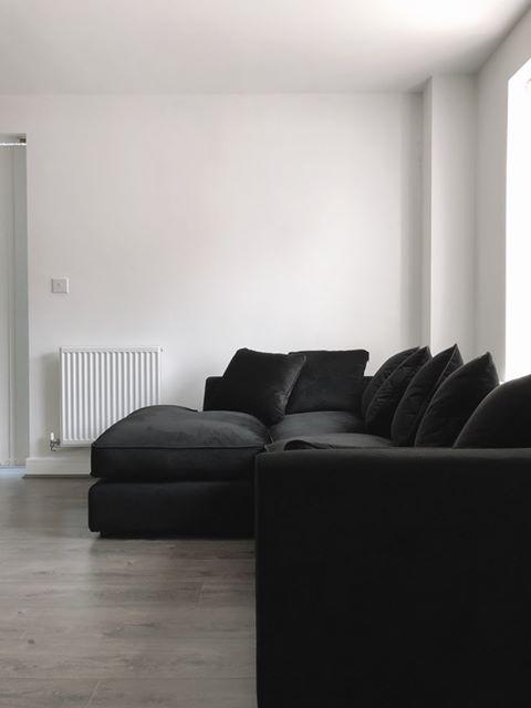 Dillon velvet corner sofa
