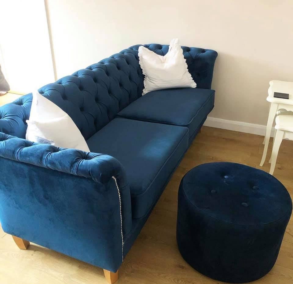 3-seater Karin sofa with the footstool