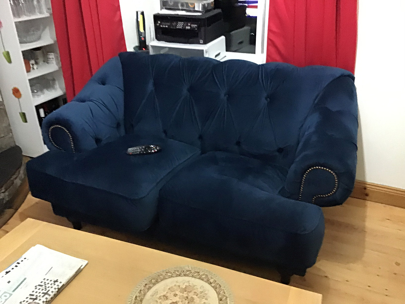 Blue Soho Sofa from Anne