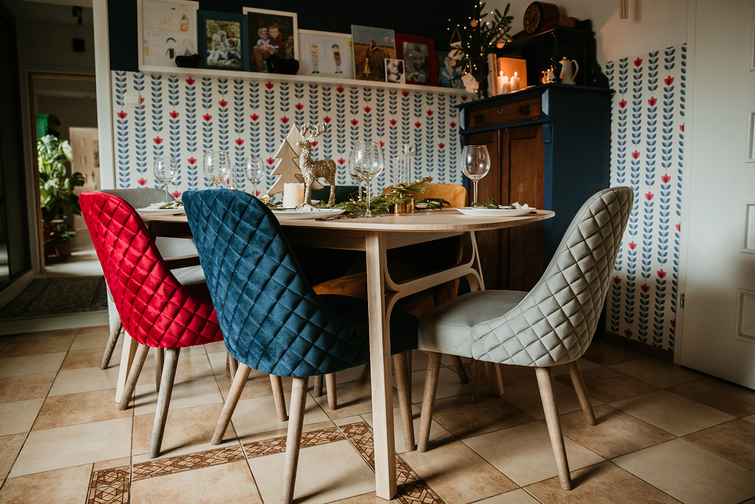 Albion chairs with stitching