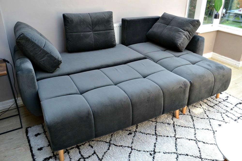 Grey corner with sleeping function Globe