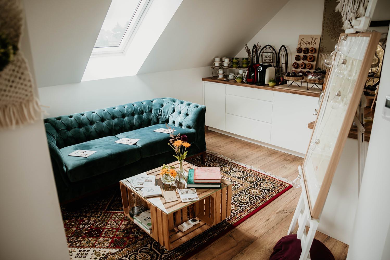 Velour Chesterfield Modern Wood sofa