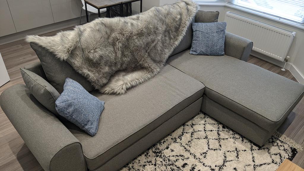 Grey corner with sleeping function - Nicea