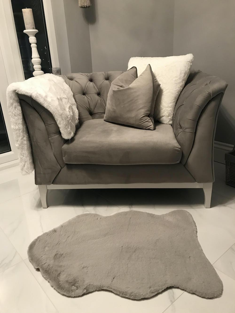 Grey Chesterfield Modern Wood Chair