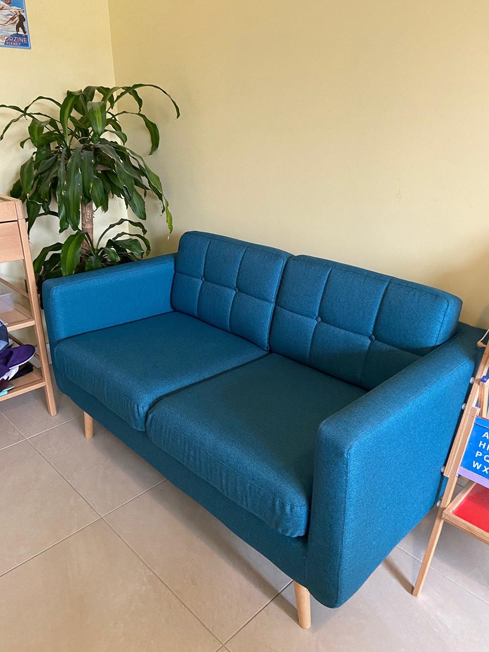Blue three-seater sofa Brest
