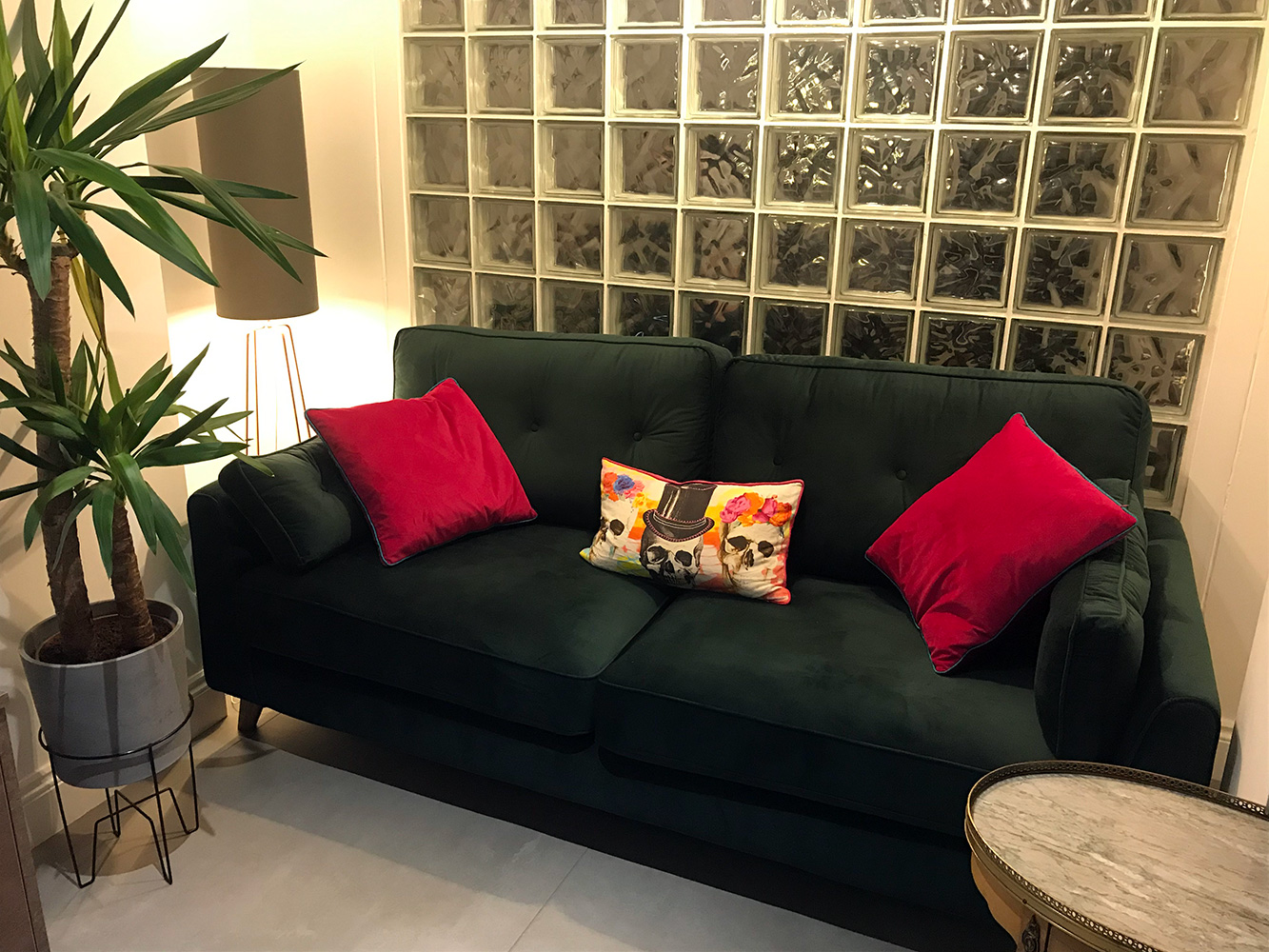 Green Magnus sofa from Kevin