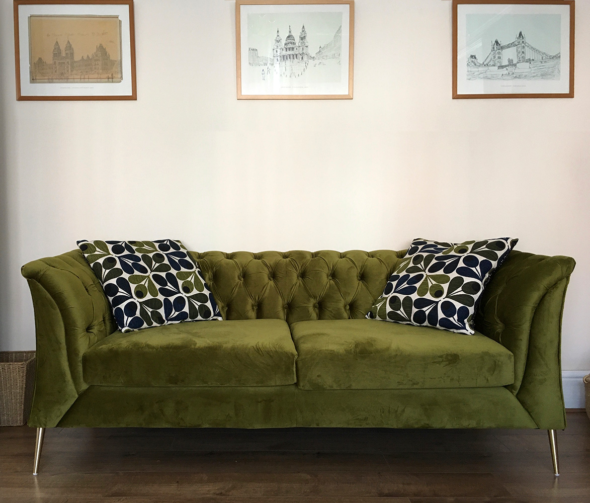 Green Chesterfield Modern sofa from Kate