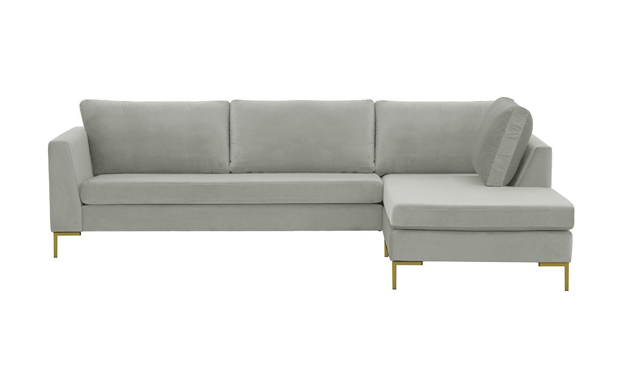 grey right hand corner sofa