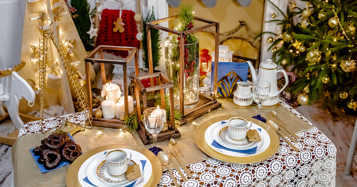 Christmas – an idea for festive table in your dining room