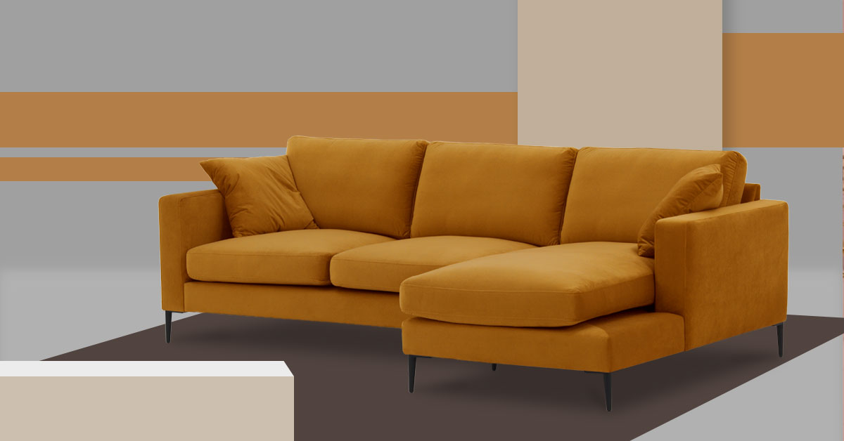 Mustard sofas – how to accessorise them?