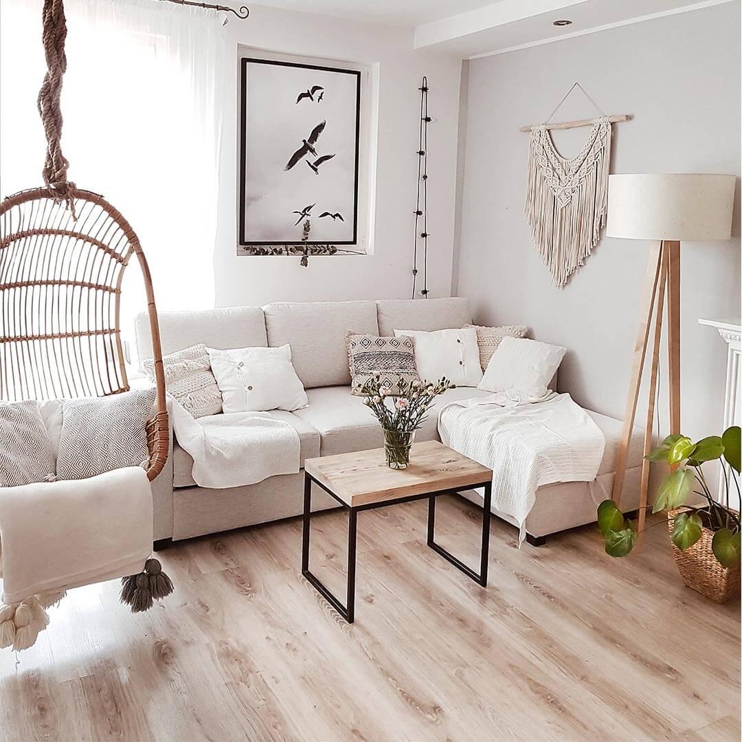 Beige Corner Sofa Bed with Storage