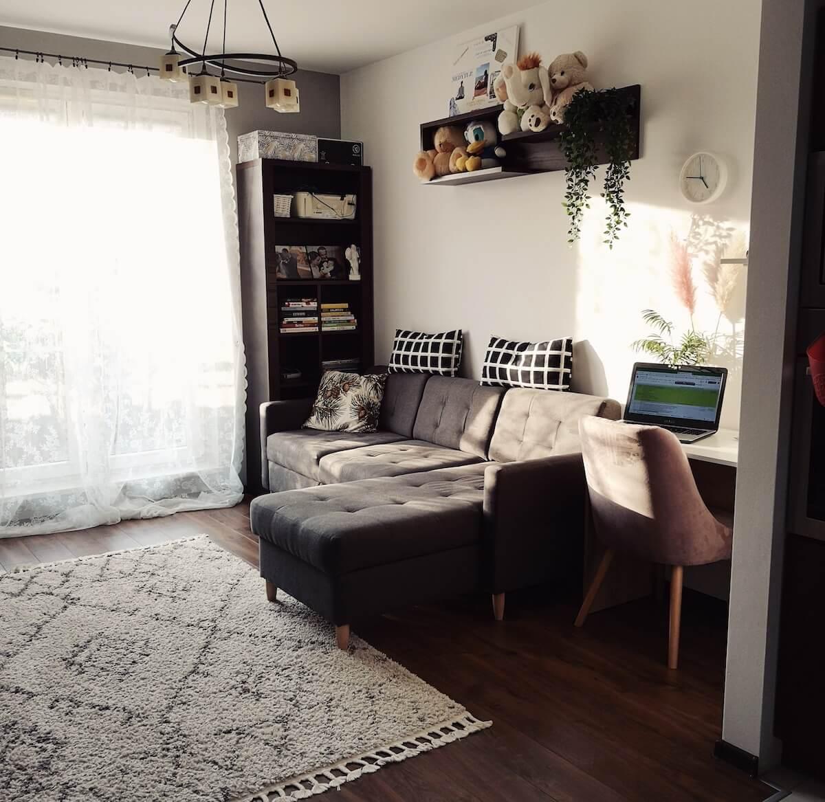 Grey corner sofa bed Explorer
