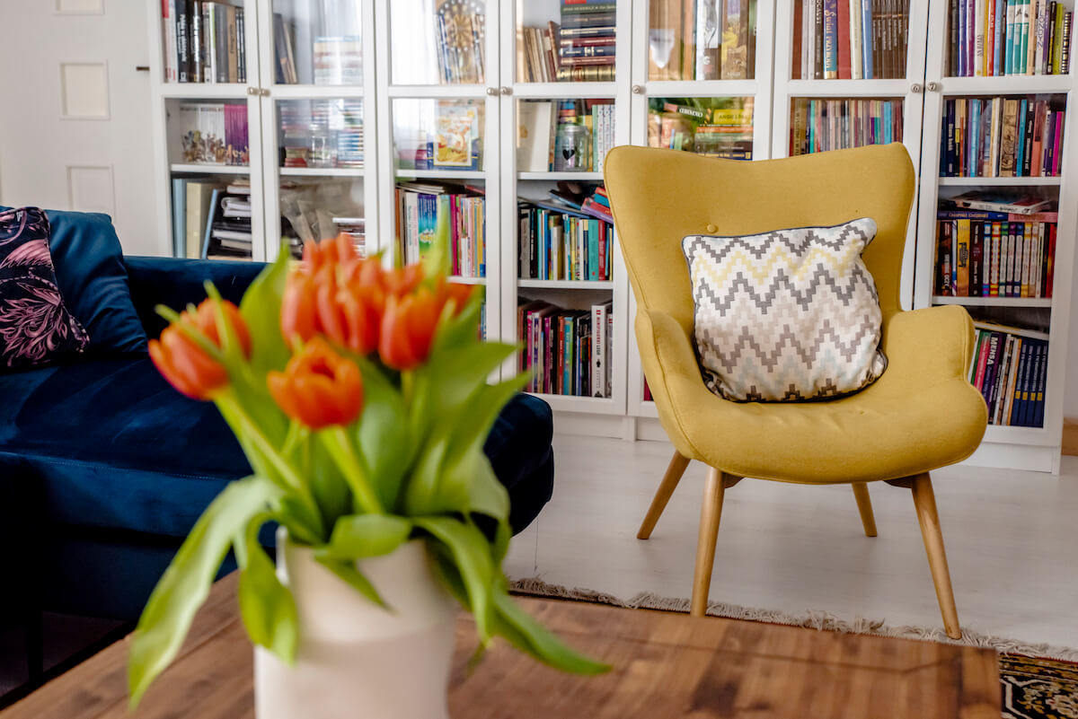 Yellow Ducon Wingback Chair