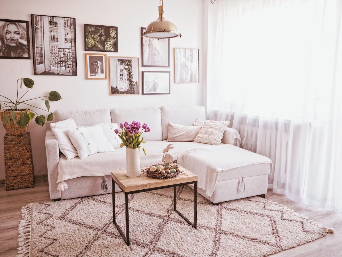 Beige Corner Sofa Bed Kropp